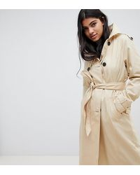 Pimkie Double Breasted Trench Coat - Natural