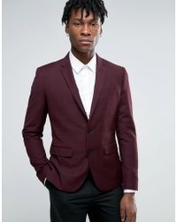 Casual Friday - Slim Fit Blazer With Zip Pockets - Lyst