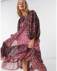 Free People Estelle Printed Midi Smock Dress - Multicolor