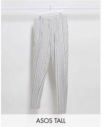 ASOS - Pantalones elegantes tapered - Lyst