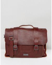 Dr. Martens 15 Leather Satchel - Brown
