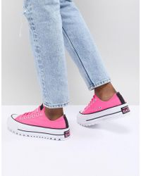 Converse - Platform Ripple Trainers In Pink - Lyst