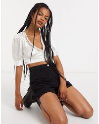 Weekday Mirro Structured Shorts - Black