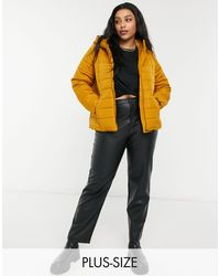 Vero Moda Curve Padded Coat - Brown