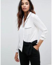 Lipsy - Pyjama Shirt - Lyst