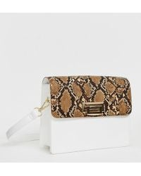 Glamorous - Two Tone Structured Shoulder Bag - Lyst