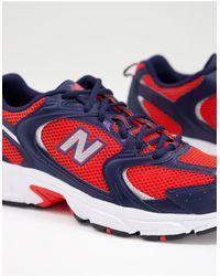 New Balance - Красные Кроссовки С Вставками Темно-синего Цвета 530-красный - Lyst