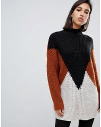 Y.A.S Oversize Color Block Knitted Sweater - Multicolor