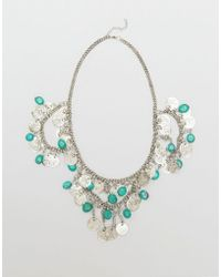 Raga - Coin Medallion Necklace With Fringe - Lyst