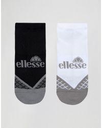 Ellesse 2 Pack Trainer Socks - Black/white