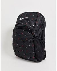 Nike Черный Рюкзак С Логотипом-галочкой Brasilia