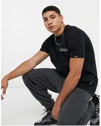 Napapijri - T-shirt nera con etichetta con logo - Lyst