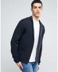 Casual Friday Knitted Blazer - Blue