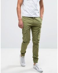 Casual Friday - Cargo Trousers With Drawstring Waist - Lyst