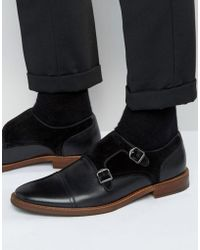 ALDO - Ellmore Leather Suede Mix Monk Shoes - Lyst