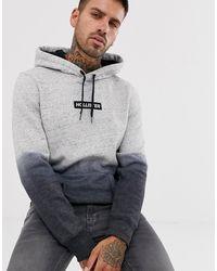 comprar baratas ec7c0 5c102 Sudadera con capucha y cuadro con el logo con diseño sombreado en gris