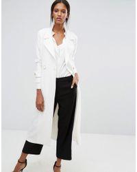 Closet - Wardrobe Self Tie Belted Coat - Lyst