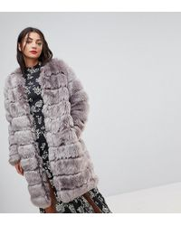 Y.A.S - Faux Fur Coat - Lyst