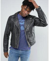 Levi's Moto Vintage Leather Jacket - Black