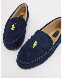 Ralph Lauren - – Marineblaue Mokassin-Hausschuhe - Lyst