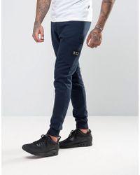 Nicce London Nicce Skinny Sweatpants With Patch Logo - Blue