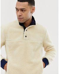 J.Crew Mercantile Borg Mockneck Sweatshirt In Cream - Natural