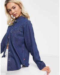 Levi's Dori - Camicia stile western - Blu