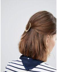 Orelia - Cresent Hair Clip - Lyst