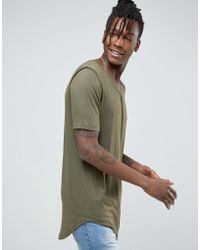 Avior - Longline Drapey T-shirt - Lyst
