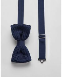 Twisted Tailor Knitted Bow Tie - Blue