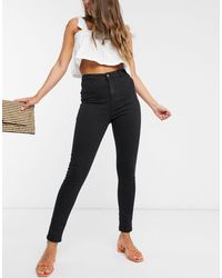 Urban Bliss Jeans vita alta skinny neri - Nero