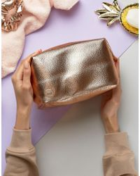 Mi-Pac - Wash Bag In Rose Gold - Lyst