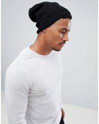 e730780388a Lyst - ASOS Twist Yarn Slouchy Beanie In Burgundy in Purple for Men