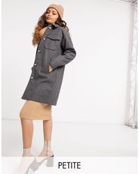 Vero Moda Longline Shacket - Grey