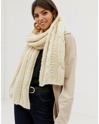 French Connection Cable Knit Wool Blend Scarf
