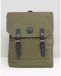 French Connection Military Canvas Backpack - Green