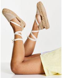 Pull&Bear Espadrilles Lace Up Sandal - Multicolour