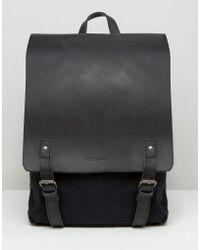 Forbes & Lewis Leather Devon Backpack In Black