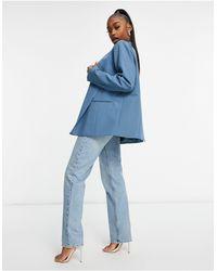 Public Desire Oversized Mansy Blazer Co-ord - Blue