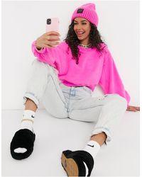 UGG Ярко-розовый Джемпер С Круглым Вырезом И Объемными Рукавами