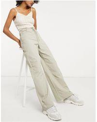 Weekday Iris Organic Cotton Straight Leg Cord-tie Pants - Natural