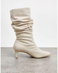 NA-KD Кремовые Ботинки С Квадратным Носком -белый - Естественный