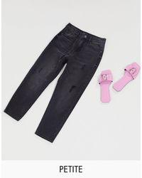 Vero Moda Mom Jeans With High Waist - Black