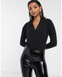 Y.A.S Wrap Body With Collar - Black
