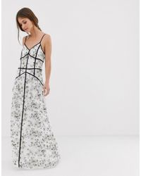 We Are Kindred Madison Caged Maxi Dress - White