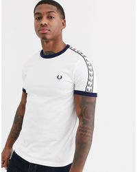 Fred Perry T-Shirt Taped Ringer - Bianco