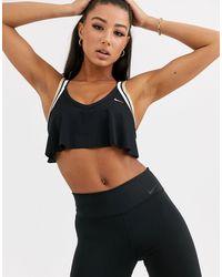 Nike Бюстгальтер Со Средней Поддержкой И Перфорацией -черный