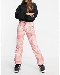 Roxy Розовые Горнолыжные Брюки Nadia Printer-розовый