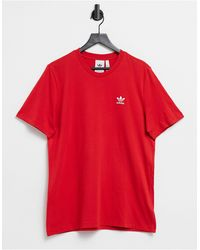 adidas Originals – Essentials – es T-Shirt - Rot