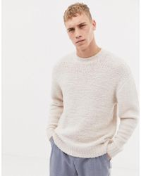 Tiger Of Sweden - Oversized Fit Hairy Knit Wool Jumper In Pale Pink - Lyst
